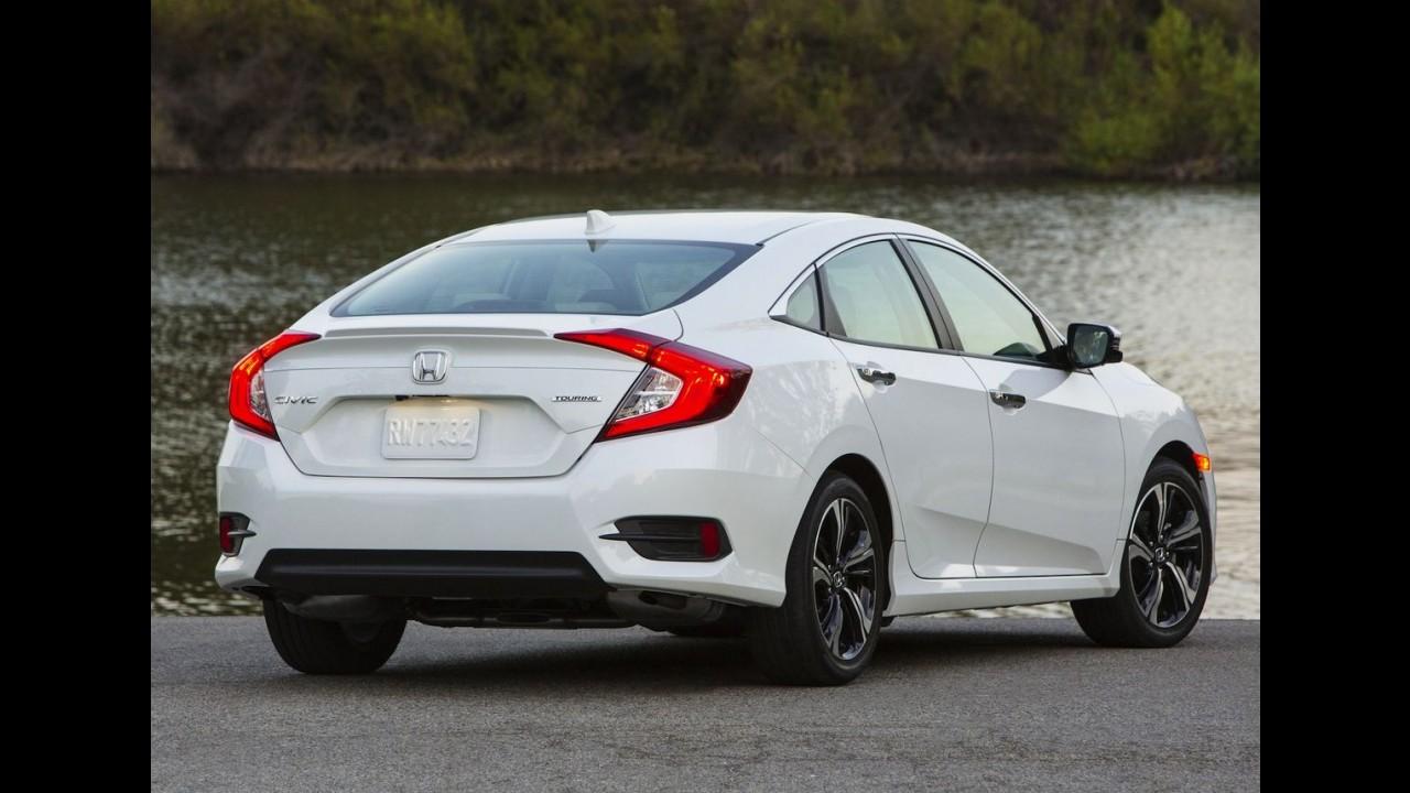 Novo Honda Civic 1.5 turbo terá opção de câmbio manual nos EUA