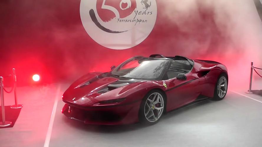 Veja a revelação da Ferrari J50 no Japão - vídeo
