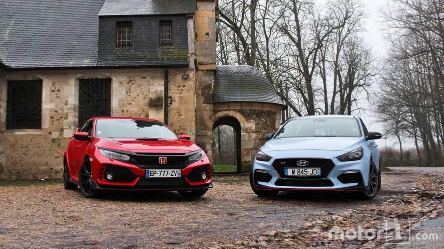Essai comparatif - La Honda Civic Type R affronte la Hyundai i30 N