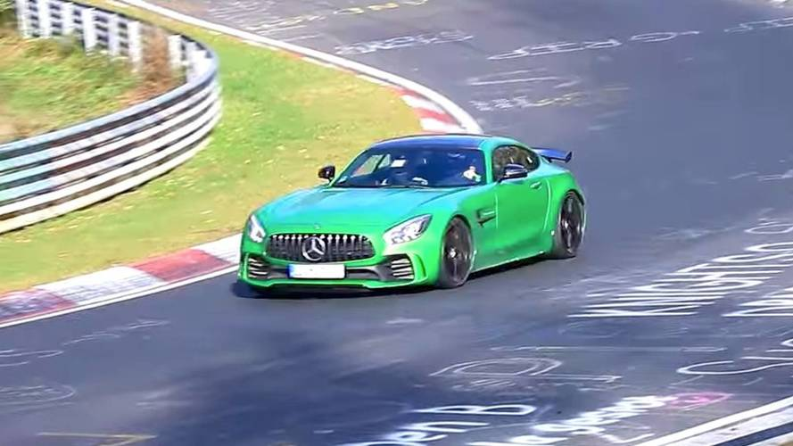Possible Mercedes-AMG GT4 Road Car Spied Tackling The 'Ring