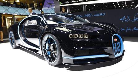 Bugatti Chiron, rekoruyla övünmek üzere Frankfurt'ta
