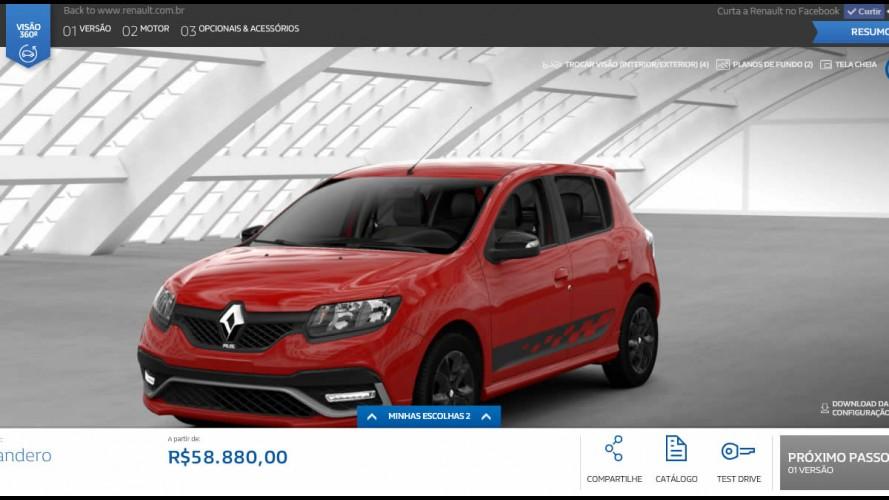 Novo Sandero R.S. já pode ser configurado no site da Renault