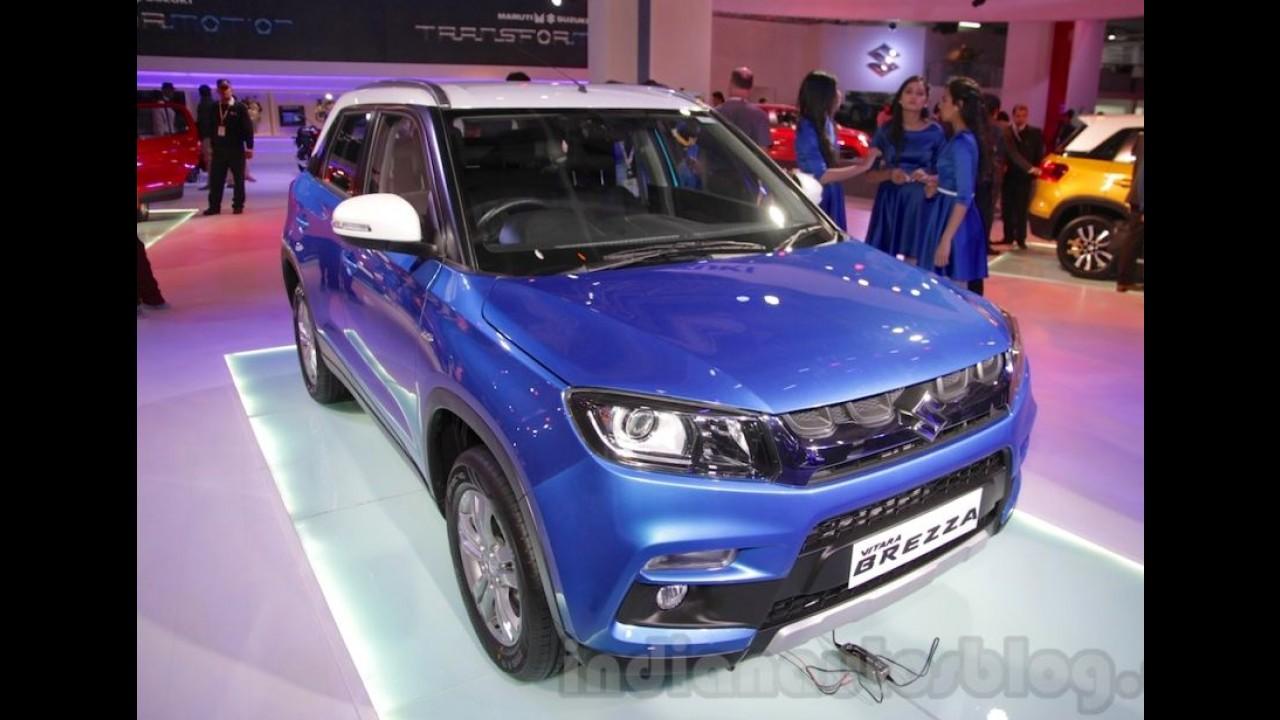 """Suzuki revela """"mini SUV"""" Vitara Brezza no Salão de Nova Delhi"""
