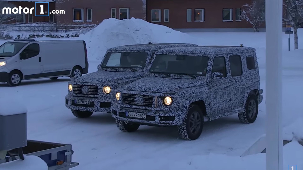 Mercedes G-Class Spy VIdeo