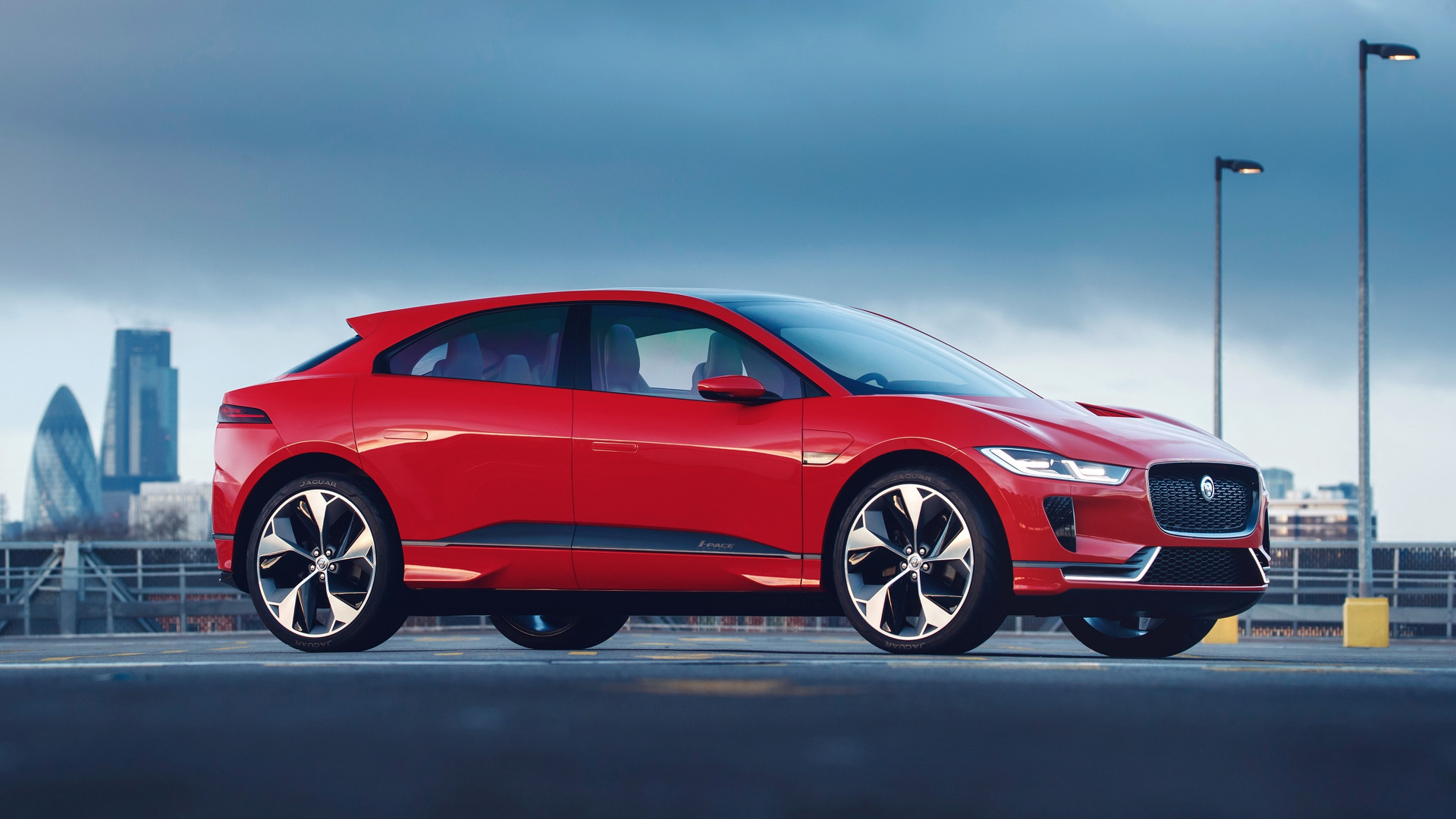 British Sports Cars For Sale In Usa >> Jaguar I-Pace Concept dresses in red for European debut