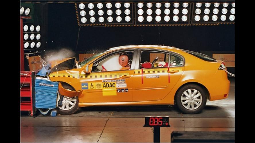 ADAC-Crashtest: Bei hohem Tempo nützen Airbags nichts