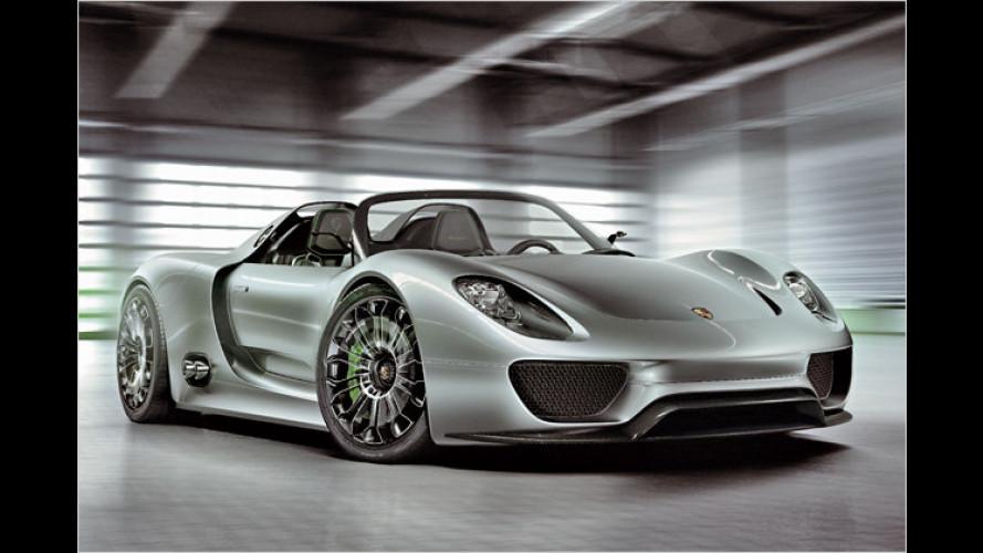 Porsche: Mittelmotor-Sportler 918 Spyder steht in Genf