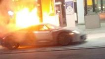 Porsche 918 Spyder fire