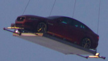 Jaguar XE spotted flying over London for premiere