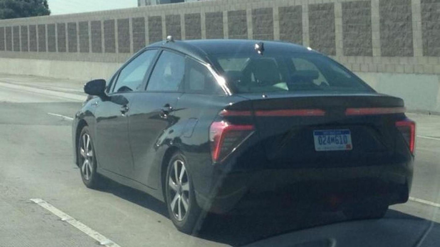 2016 Toyota Mirai fuel cell vehicle spotted undisguised in United States