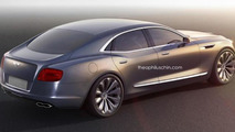 Bentley entry-level sedan rendered based on Buick Avenir