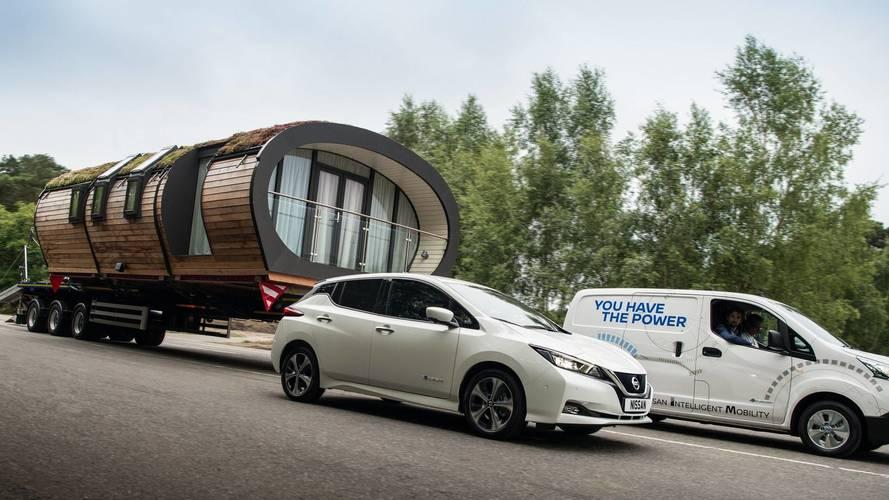 Nissan e-NV200 récord de remolque
