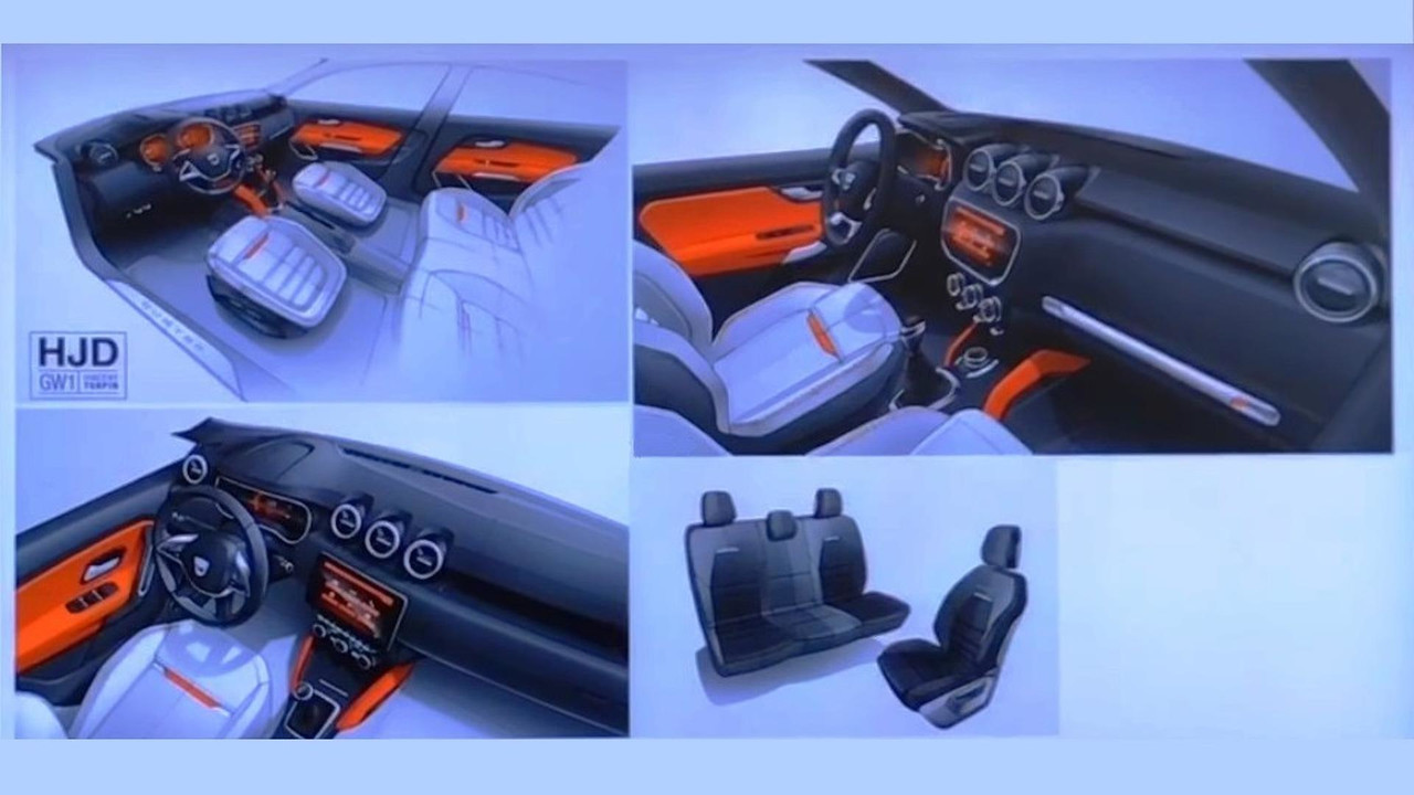 2018 Dacia Duster interior design sketch
