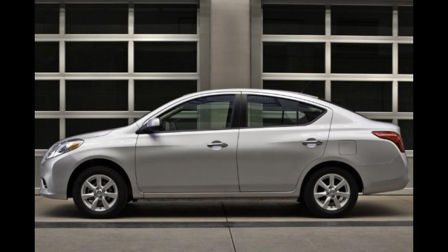 Nissan inicia vendas do Versa no México pelo equivalente a R$ 22.300
