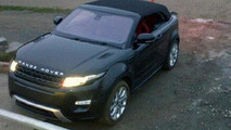 Land Rover Evoque Cabriolet Concept caught with top up