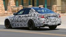 2018 BMW M5 spy photos in Mojave Desert