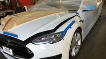 Tesla Model S stretched by Big Limos