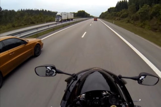 Watch a 677-HP Volvo C70 Race a Honda CBR1000