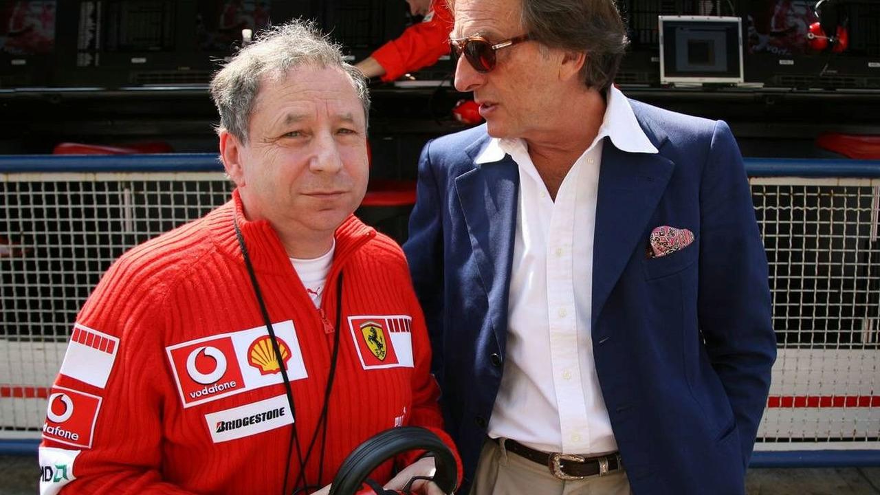 Jean Todt (FRA), Scuderia Ferrari, Teamchief, and Luca di Montezemolo (ITA), Chairman & Managing Director, San Marino Grand Prix, Saturday Practice, Imola, Italy, 22.04.2006