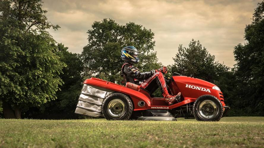 Mean Mower sorts the Goodwood lawn before Festival of Speed