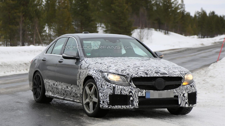 2015 Mercedes-Benz C63 AMG Sedan spied with less camouflage