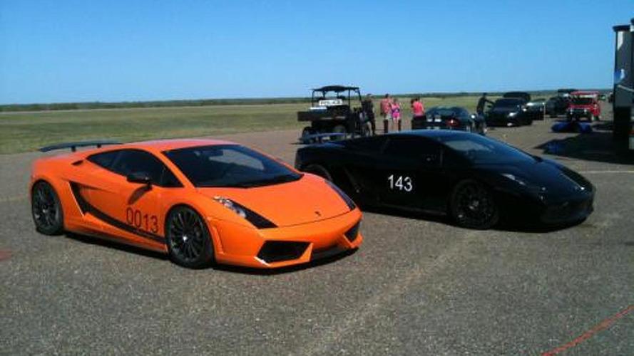 Underground Racing Twin Turbo Gallardo Superleggera goes 250.1 MPH at The Texas Mile [Video]