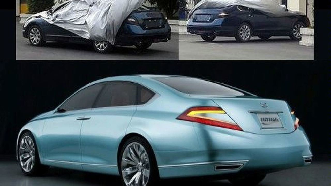 Nissan Intima spy photos and 2007 Nissan Intima Concept