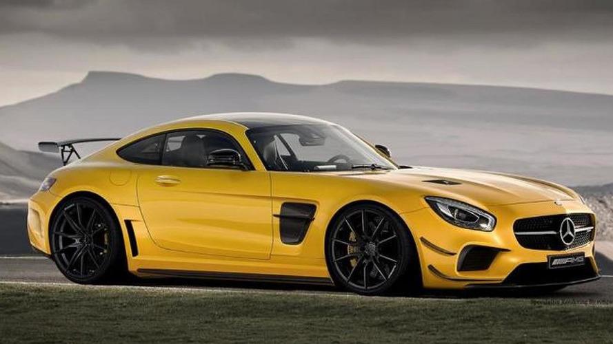 Mercedes-AMG GT rendered as Black Series model