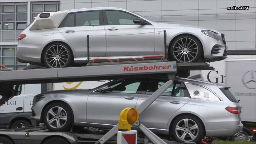 Weird Mercedes GLS, E-Class Wagon Prototypes Spotted
