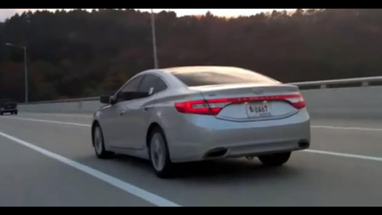 VÍDEO: Novo Hyundai Azera 2012 já circula sem disfarces na Coréia