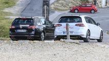 VW Golf R facelift spy photo