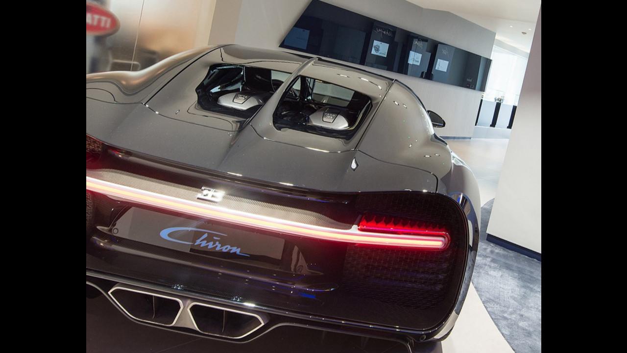 Bugatti Chiron, lo showroom di Londra