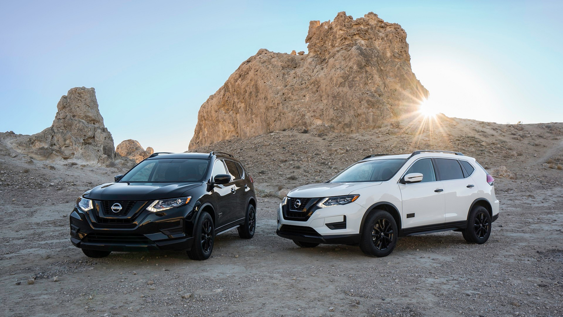 three rouge rogue showdown styling truck trend nissan quarters view vs prevnext news