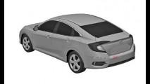 Segredo! Imagens de patente revelam novo Honda Civic 2016