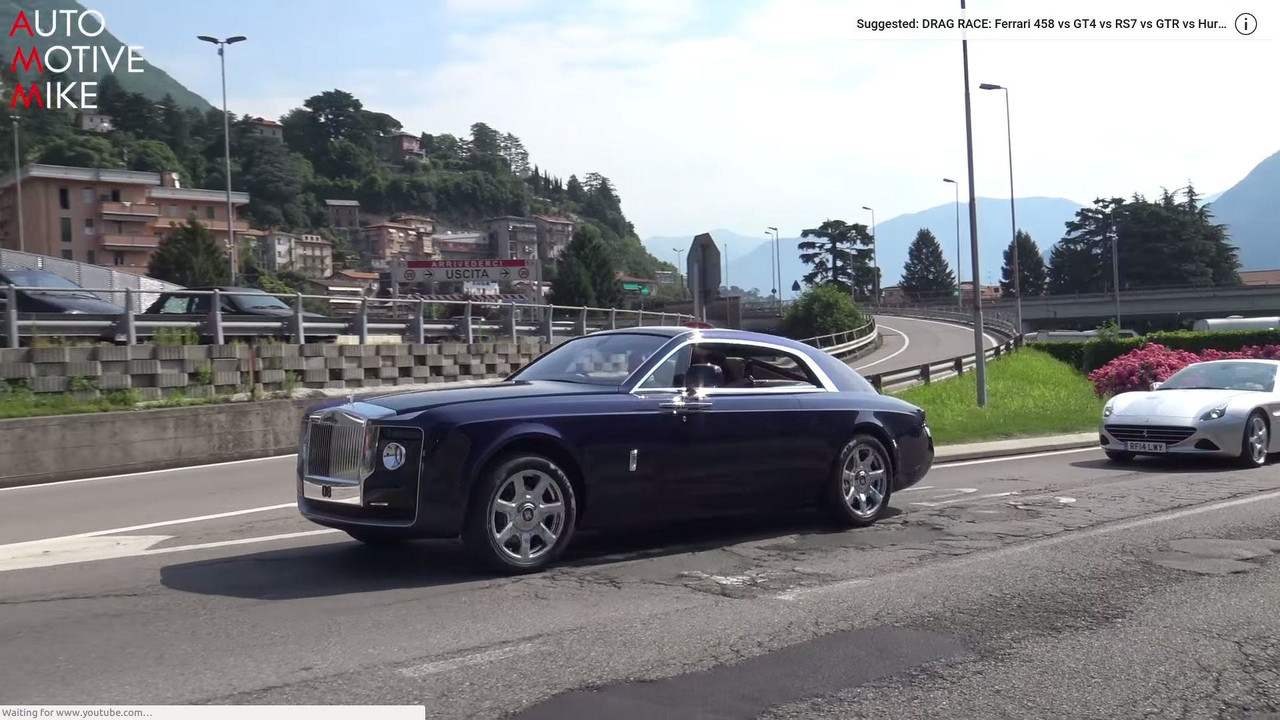 see the rolls royce sweptail glide through the streets of france. Black Bedroom Furniture Sets. Home Design Ideas