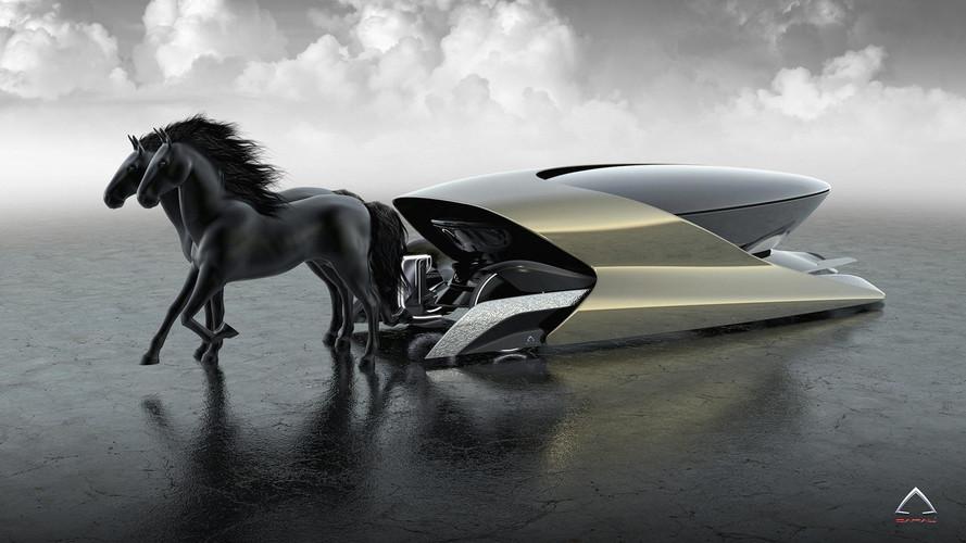Hybrid Carriage Concept Literally Has 2 Horsepower