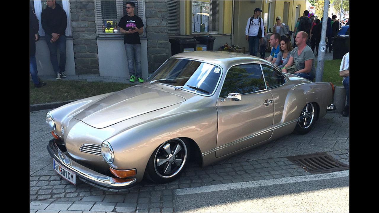 Ob man diesen Karmann Ghia vielleicht lieber im Originalzustand gelassen hätte?