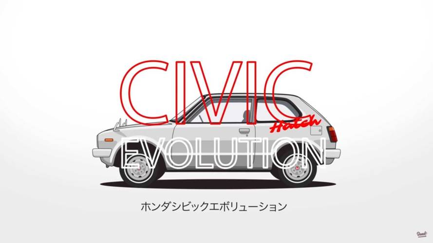 VIDÉO - 44 ans d'évolution de la Honda Civic en une minute !
