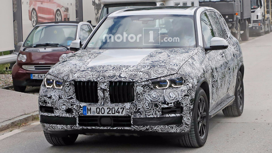 BMW X5 Spied Showing Production Headlights