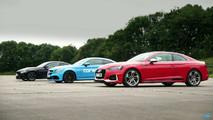 Audi vs Mercedes vs BMW drag yarışı