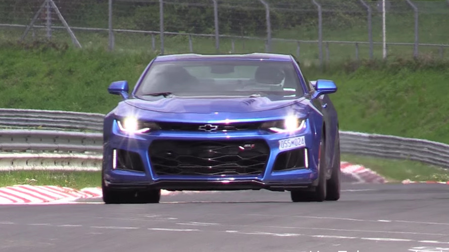 Chevy Camaro ZL1 coupes spied attacking the Nürburgring