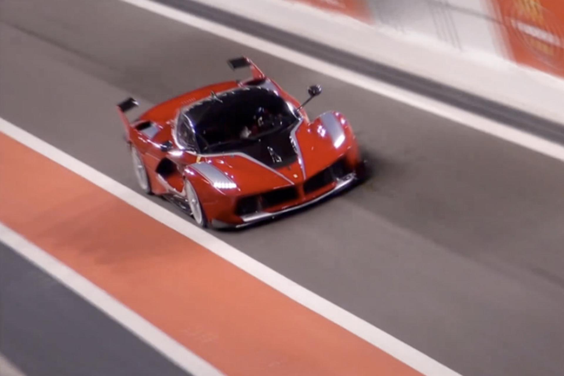 Watch the 1035HP Ferrari FXX K Scream on Track