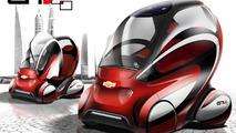 Improved Chevrolet EN-V 2.0 concept gets four wheels [video]