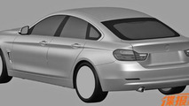 BMW 4-Series GranCoupe patent drawing