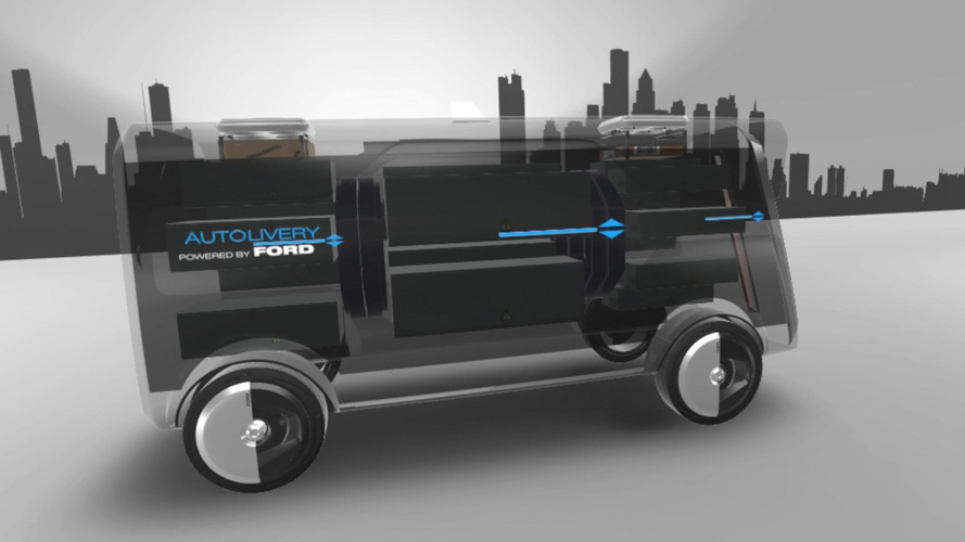 Ford's drone-loaded autonomous van concept is FedEx of the future