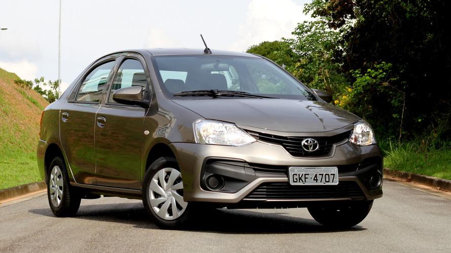 Toyota Etios, Etios Sedan e SW4 ficam mais caros em janeiro