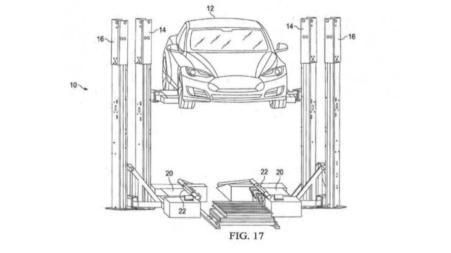 Tesla Files Patent For Trailer-based Battery Swap Station