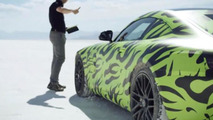 Testing the new Mercedes AMG GT