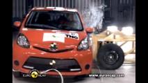 Toyota Aygo, Citroën C1 e Peugeot 107 foram mal no EuroNCAP - Fabricantes anunciam mudanças imediatamente
