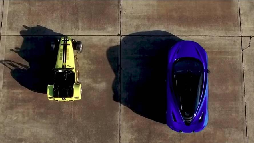 Caterham 620R ve McLaren 720S kapışması